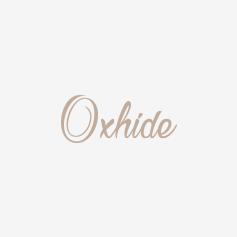 Oxhide Leather Bracelet flat Braided Black